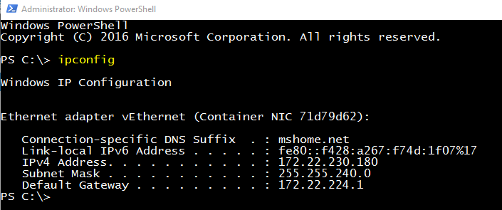 Windows Docker Containers